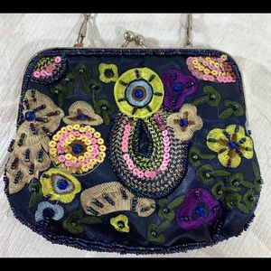 VTG Bijoux Terner small embroidered 1980's purse